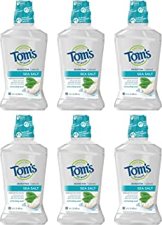 product image for Tom's of Maine Sea Salt Natural Alcohol-Free Mouthwash, Refreshing Mint, 16 oz. 6-Pack