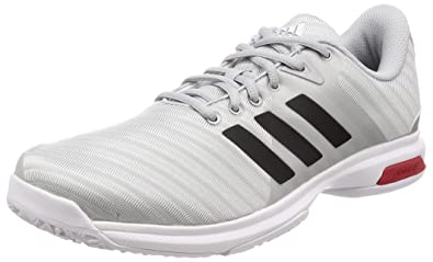 the best attitude 2a04f 97b01 Adidas Men s Barricade Court Oc Msilve, Cblack, Scarle Tennis Shoes-8 UK
