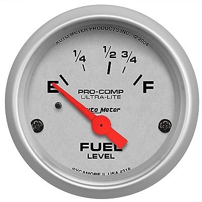 Auto Meter 4318 Ultra-Lite Electric Fuel Level Gauge: Automotive