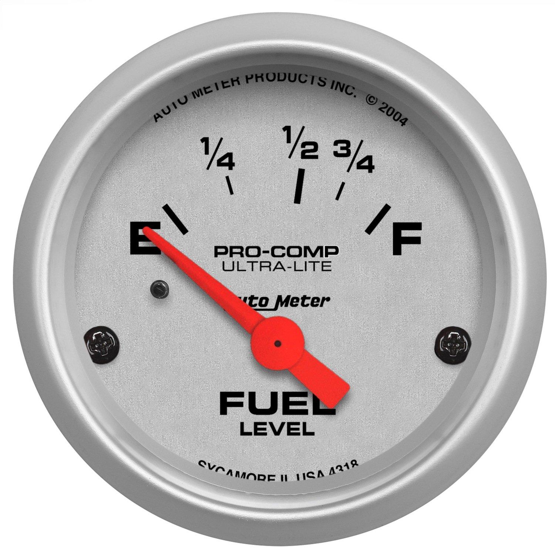 Auto Meter 4318 Ultra-Lite Electric Fuel Level Gauge