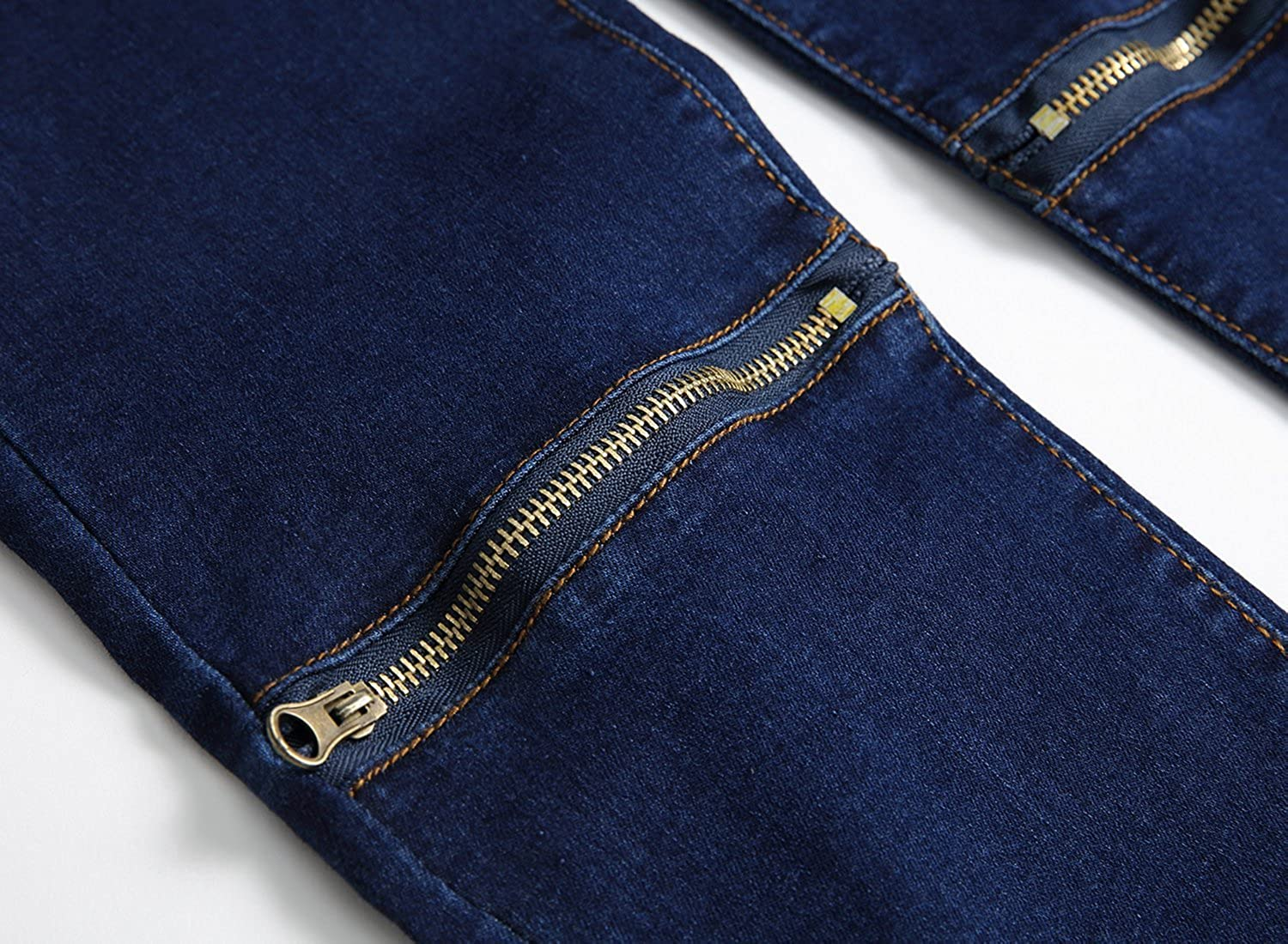 fa732dd36224 Fredd Marshall Boy's Slim Fit Skinny Ripped Distressed Zipper Jeans Pants  with Holes: Amazon.co.uk: Clothing