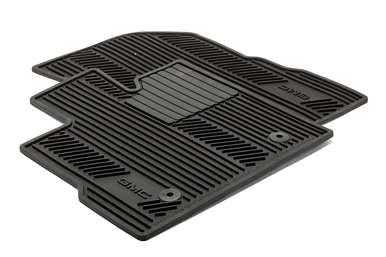 General Motors GM Accessories 22832328 Front All-Weather Floor Mats in Jet Black with Deep Rib and GMC Logo