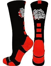 MadSportsStuff Bulldogs Logo Athletic Crew Socks (Multiple Colors)