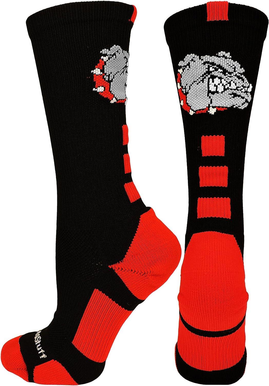 Multiple Colors MadSportsStuff Softball Logo Athletic Crew Socks