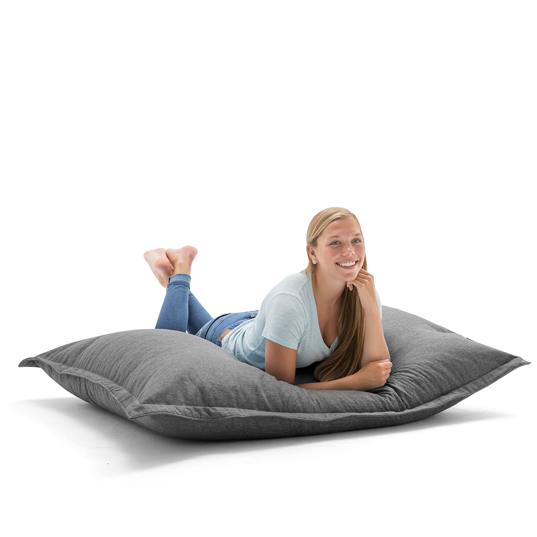 Superbe Amazon.com: Big Joe 640477 Lux Original Bean Bag Chair, Union, Gray, Gray  Union: Kitchen U0026 Dining