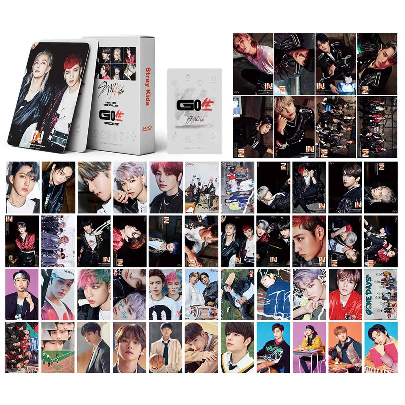 gerFogoo 54pcs/Set Kpop Stray Kids Polaroid Lomo Card Frosted HD Photocard Photograph