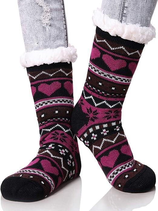 quality womens thermal socks,snowflake design design.fantastic item