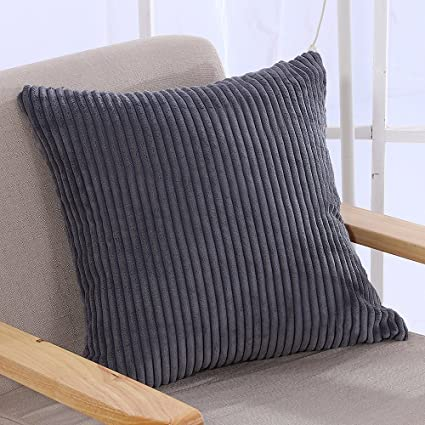 Charmant Famibay Throw Pillow Cover 24x24,Striped Corduroy Cushion Cover For Sofa  Pillow Case Covers With