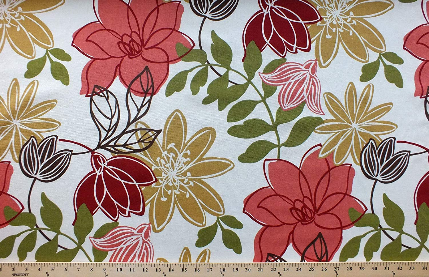 Amazon Com 54 Home Decor Flowers Large Red Modern Floral On