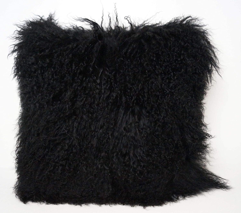 エキゾチック ブラック チベット 羊 枕 26