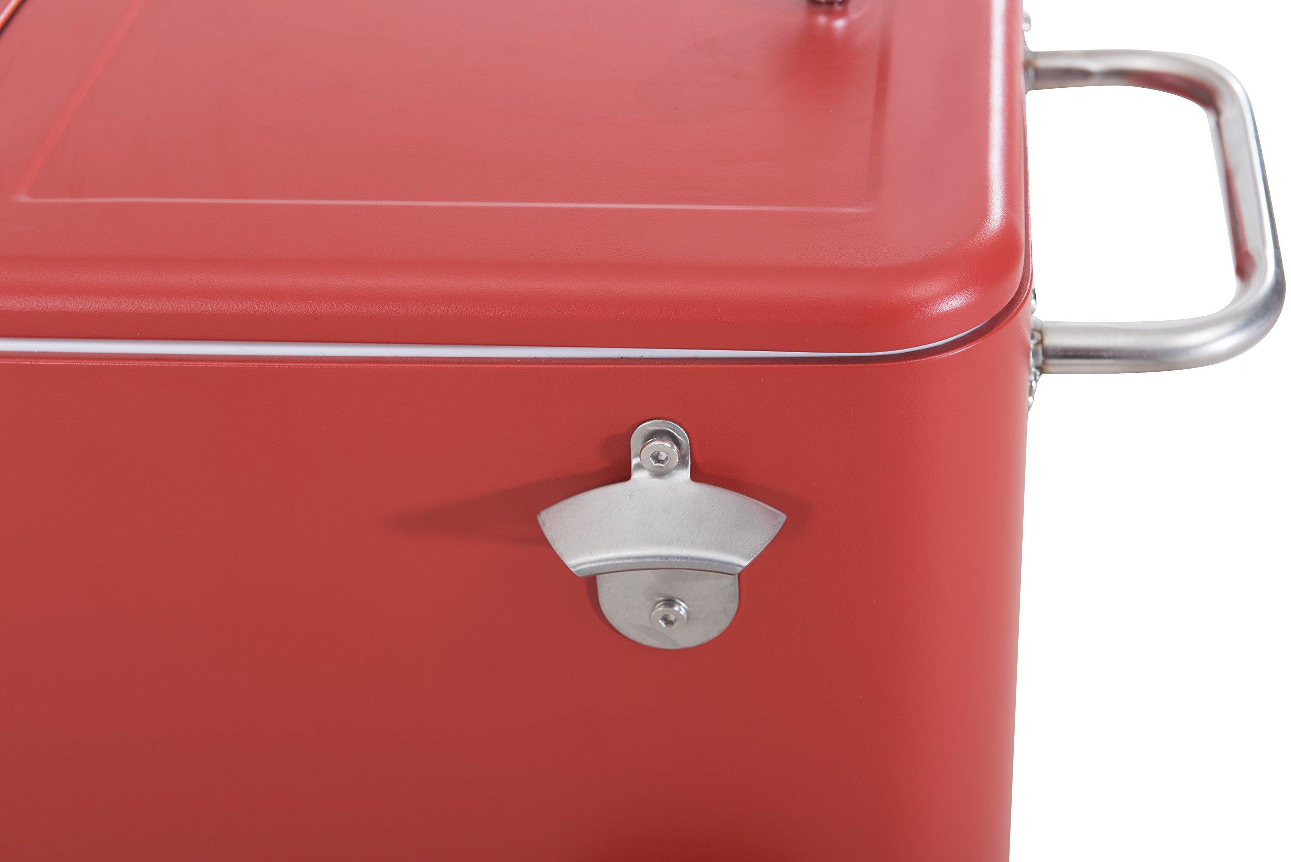 Sunjoy L-BC153PST 60 quart Wheeled Beverage Cooler in Red by sunjoy (Image #7)