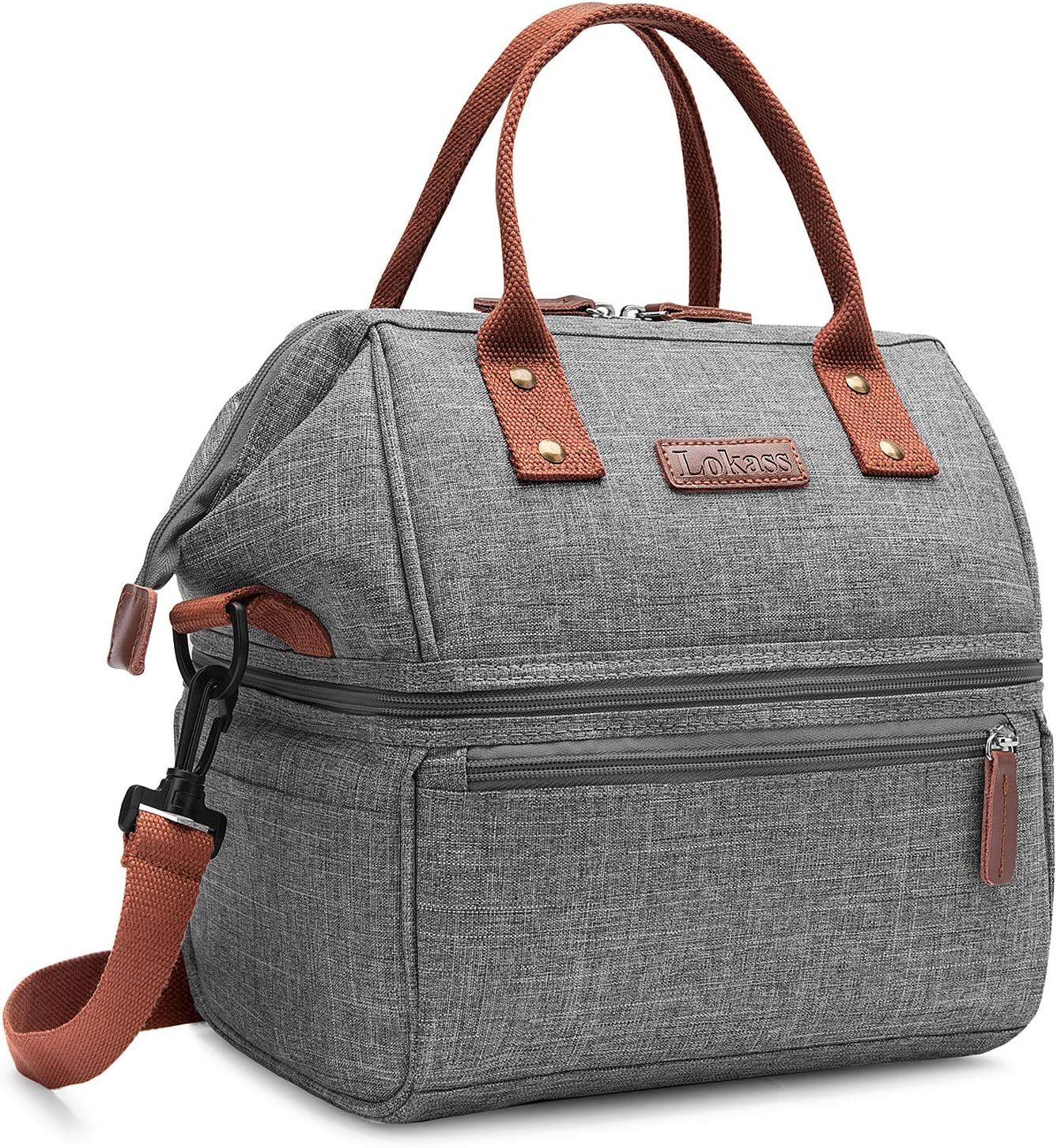 """Insulated Cooler Lunch Box Bag for Food Picnic Bottles Water Travel 9-1//2 X 6/"""""""