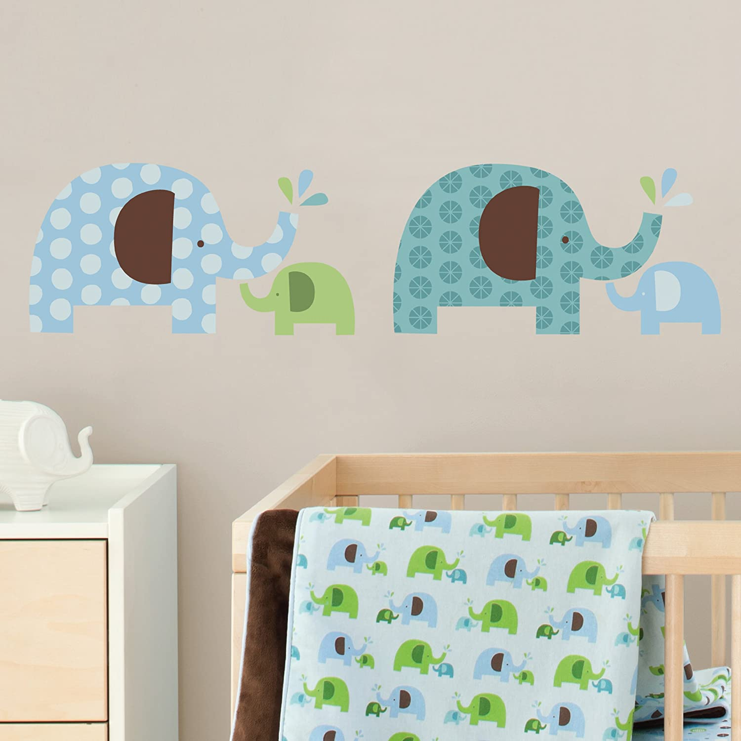 amazoncom skip hop wall decals elephant parade nursery wall stickers baby