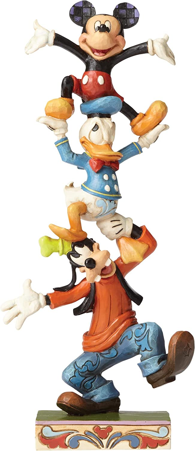 Jim Shore Disney Traditions by Enesco Goofy,Donald and Mickey Stacked Figurine