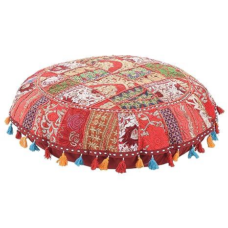 Amazon.com: Ronda especial de Año Nuevo piso almohada rojo ...