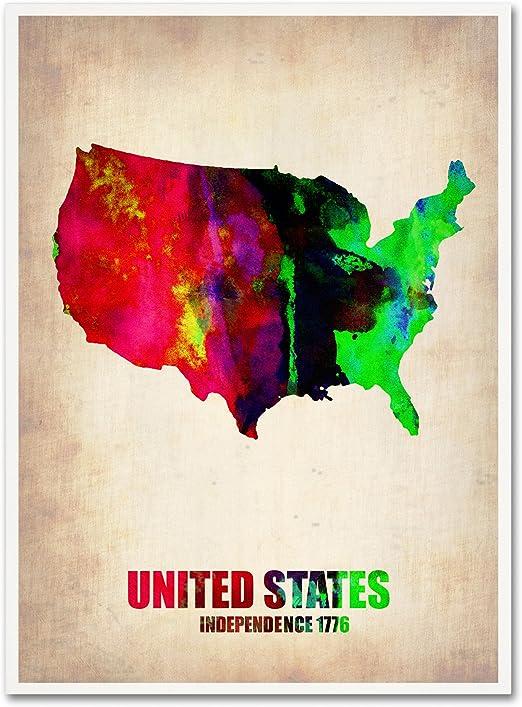utah USA state map 8x10 art print poster watercolor painting wall art