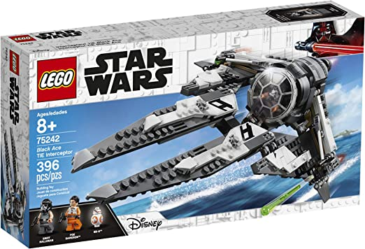 LEGO Star Wars Black Ace TIE Interceptor Building Kit 75242, 396 Pcs