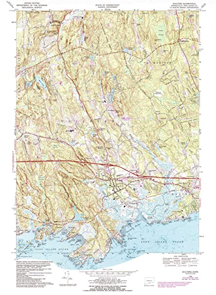 Guilford CT topo map, 1:24000 Scale, 7.5 X 7.5 Minute ...