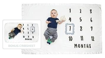 Baby Monthly Milestone Blanket And Milestone Crib Sheet Baby Milestone Blanket Newborn Milestone
