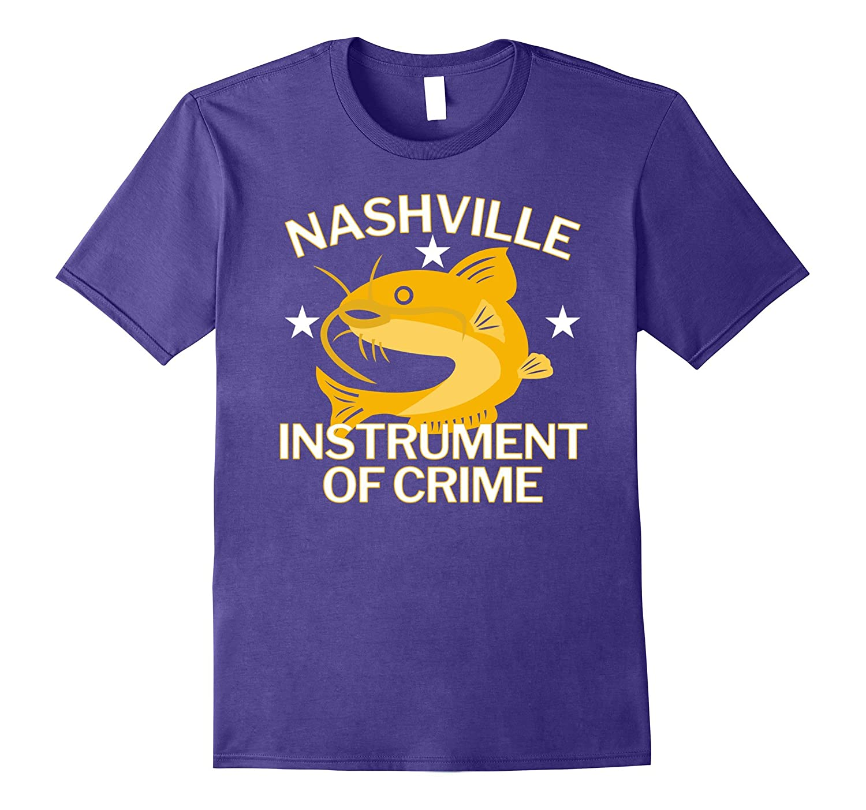 Nashville Instrument of Crime Catfish Hockey T-Shirt-BN