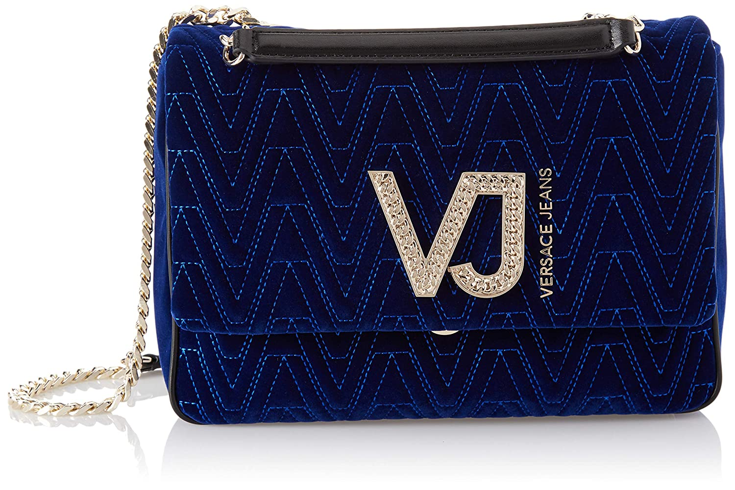 890c5404e488 Amazon.com  Versace EE1VSBBI5 E240 Prussian Blue Shoulder Bag for Womens   Clothing