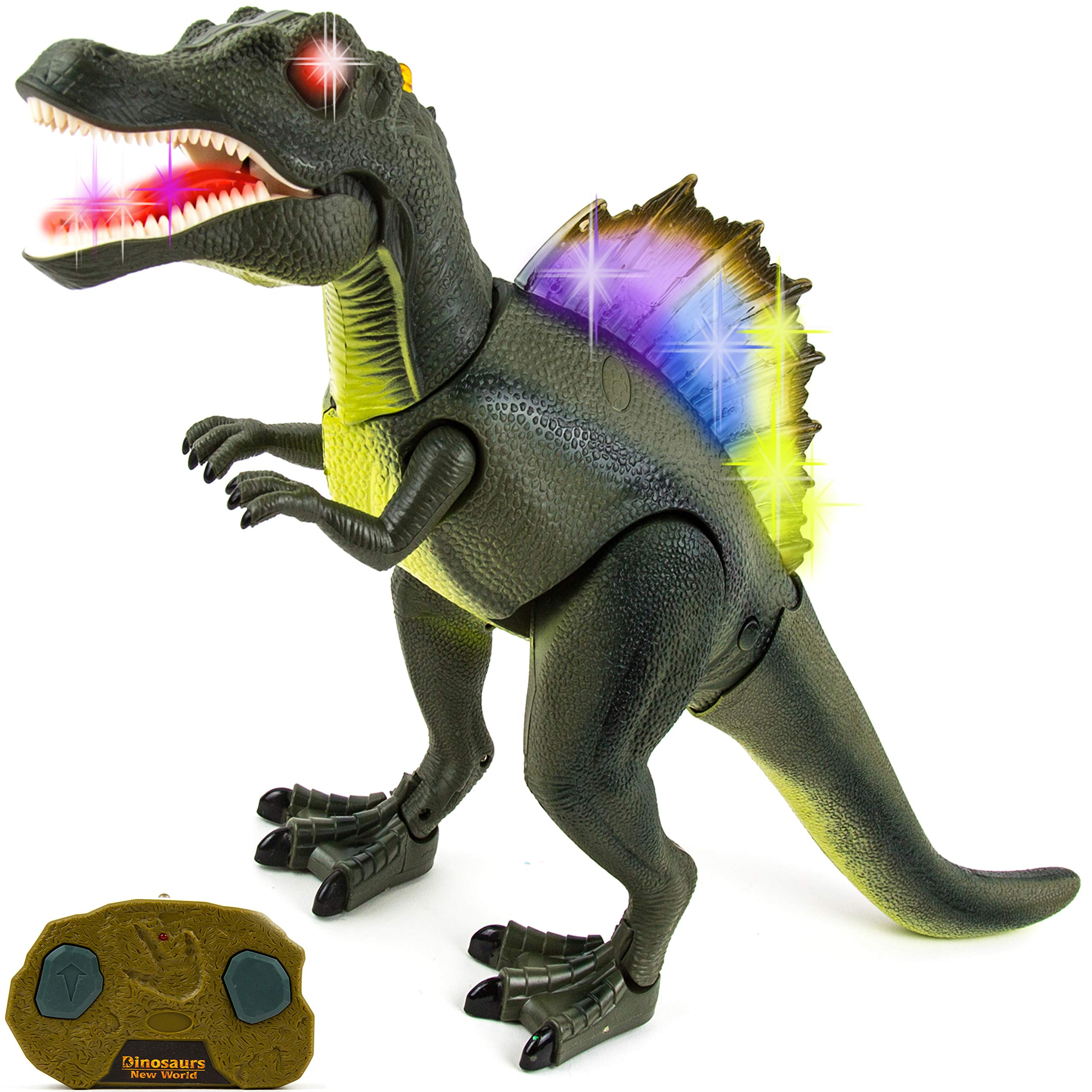 Toysery Remote Control Dinosaur Toy for Kids | RC Walking Realistic Dinosaur | Toy Roars, Lights & Sounds | Fast Forward Function | Ultimate Fun for Kids