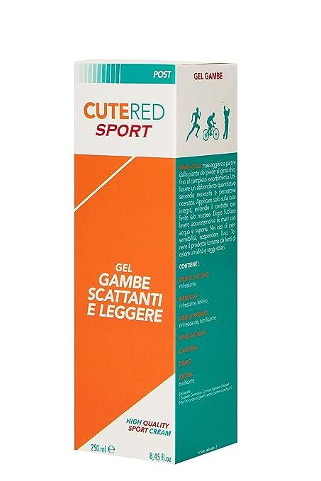 3 opinioni per Cutered Sport Gel Gambe Scattanti e Leggere, 250ml