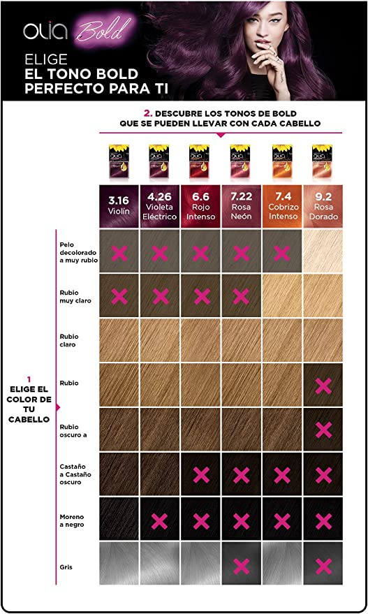 Olia Bold Coloración Permanente Tono 9.2 Rosa Dorado - 287 gr ...
