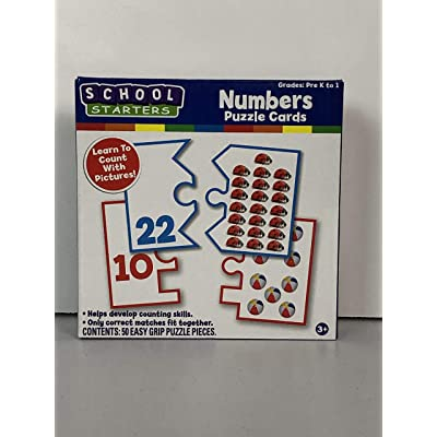 Tara Toys School Starters Numbers Puzzle Cards: Toys & Games