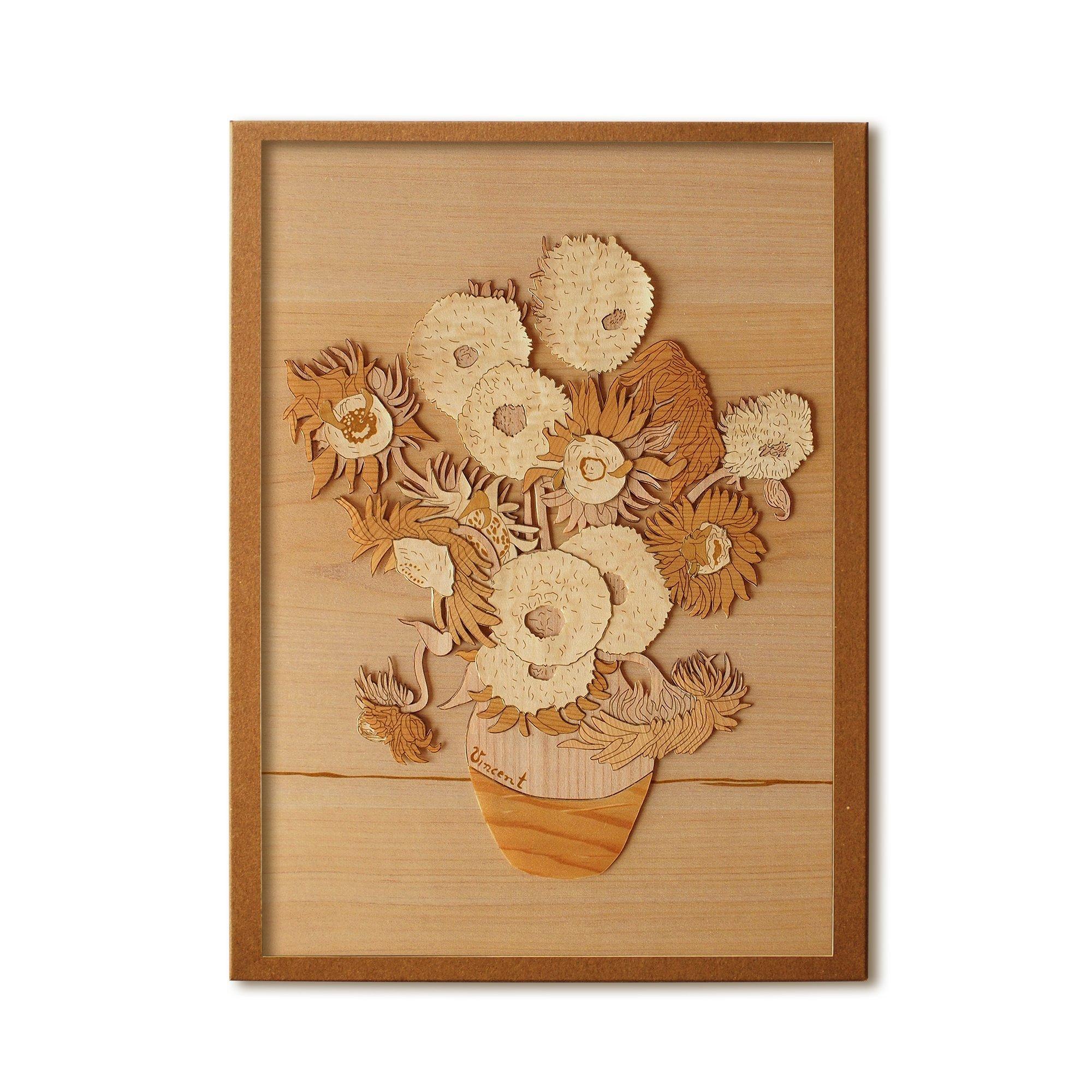 KINOWA Wooden Art Kit Kiharie Sunflowers Made in Japan by KINOWA (Image #1)
