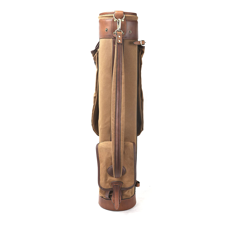 Louisville GolfキャンバスヴィンテージGolf Carryバッグ B0753LBCLV カーメル (Carmel)