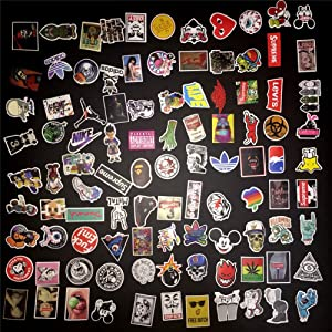 Sticker for Adults 100 Non Random Skateboard Stickers Vinyl Laptop Luggage Decals Dope Sticker Variety Car Motorcycle Bicycle Graffiti Patches (100)