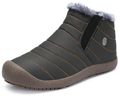 c9080ffa5830 katliu Damen Herren Winterschuhe Warm Gefüttert Winterstiefel Rutschfest  Winter Boots Outdoor Leicht Schnee Schuhe für Frauen