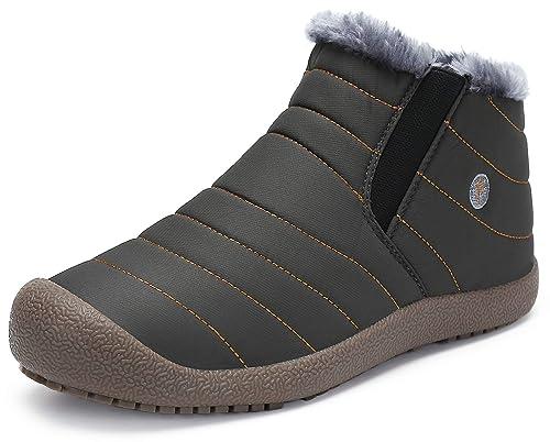 Botas Hombre Mujer Botines de Nieve Forradas de Piel Zapatos Invierno Calientes Cómodas: Amazon.es: Zapatos y complementos