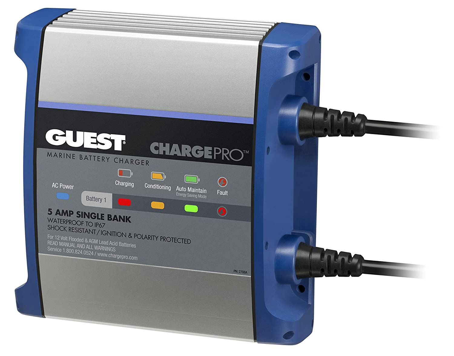 guest 2720a chargepro on board battery charger 20a 12v, 2 bank, 120v input Marine Bilge Pump Wiring Diagram