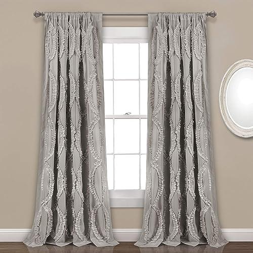 Lush Decor Light Gray Avon Window Panel