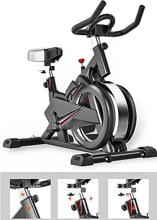 Zzxxo Bicicleta estática de Spinning Deportiva para Estudio,Cardiovascular, Ciclismo, hogar, Gimnasio, Monitor LED, Bicicleta EstáTica con Sensores De Pulso De Mano, Plegable, Unisex: Amazon.es: Hogar
