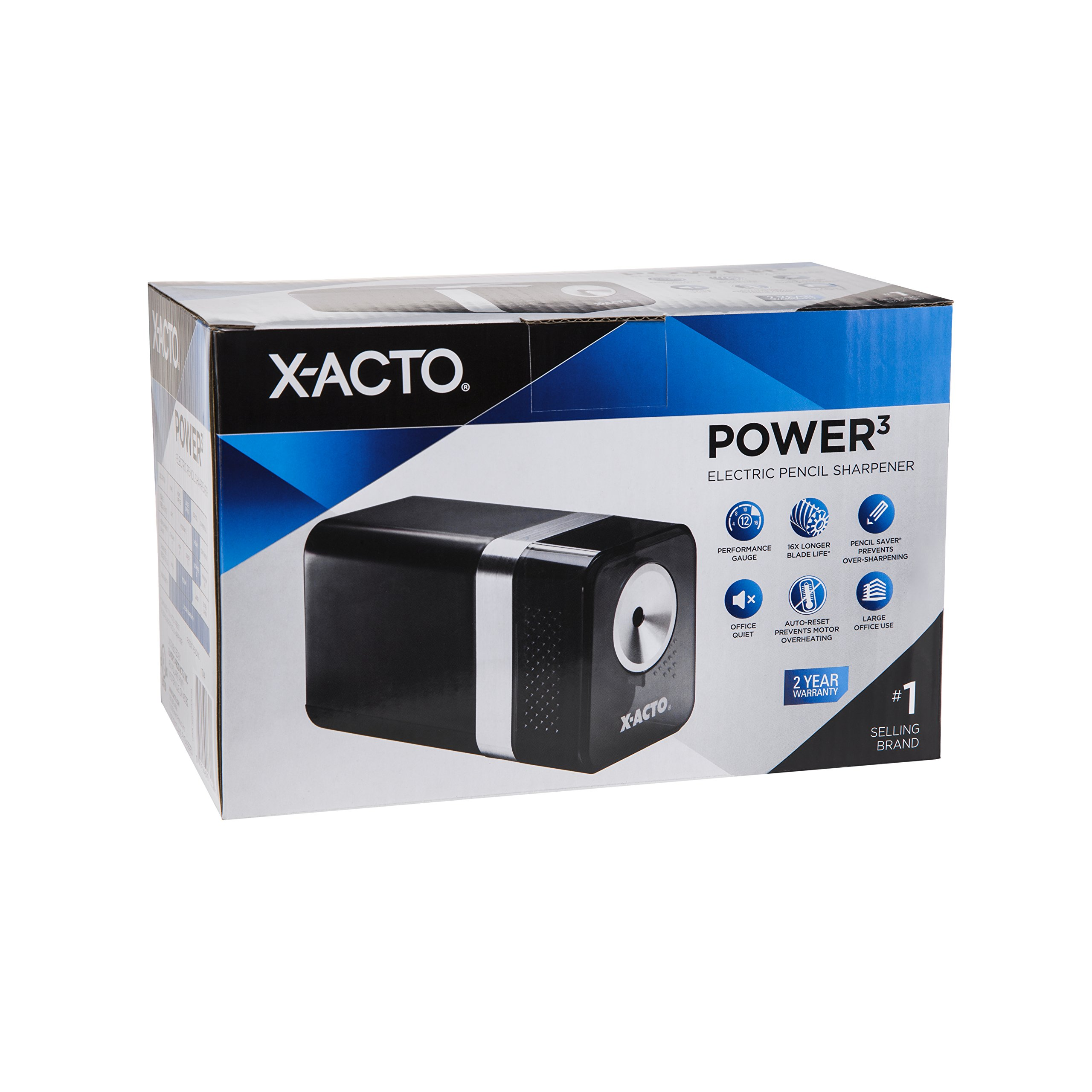 X-ACTO 1744 Power3 Office Electric Pencil Sharpener, Black by X-Acto (Image #5)
