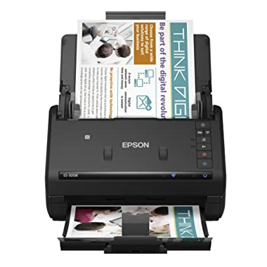 Epson WorkForce ES-500W Wireless Color Duplex Document Scanner for PC and Mac, Auto Document Feeder (ADF)