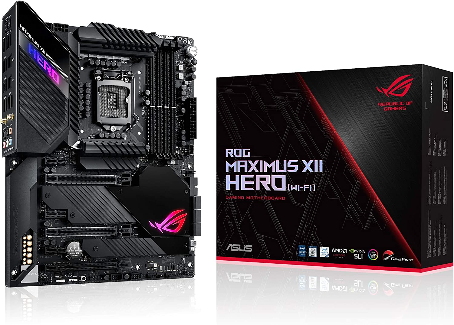 Asus Rog Maximus Xii Hero Wifi Gaming Motherboard Computers Accessories