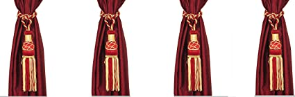 Homesazz Polyester Curtain Tie Back - Marron