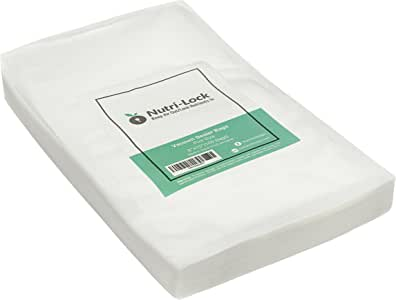 Nutri-Lock Vacuum Sealer Bags. 100 Pint Bags 6x10 Inch. Commercial Grade Food Sealer Bags Great Food Savers, Sous Vide Bags