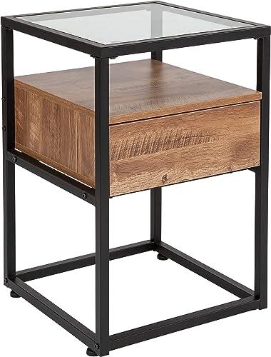 Taylor Logan Glass End Table