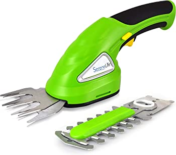 SereneLife Rechargeable Battery Handheld Cordless Grass Shear