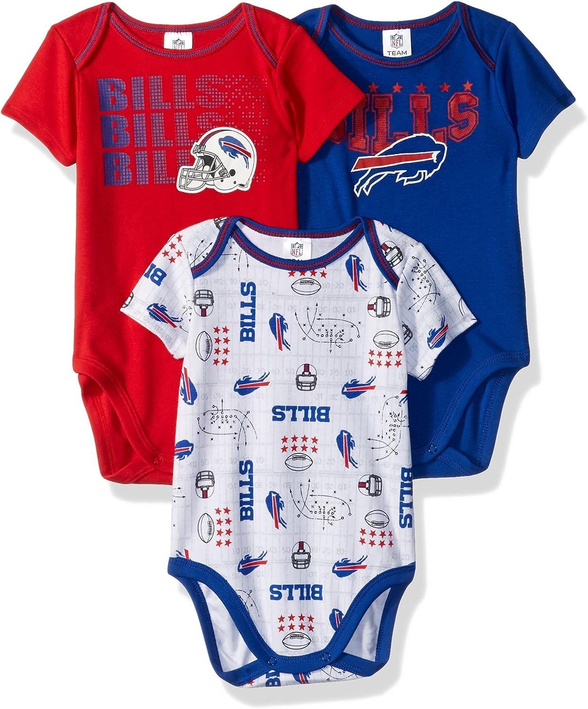 NFL 3 Pack Short Sleeve Bodysuit