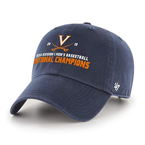 7130c2806fa834 Amazon.com : '47 NCAA Virginia Cavaliers 2019 Basketball National Champions Clean  Up Adjustable Hat, Champs, One Size : Sports & Outdoors
