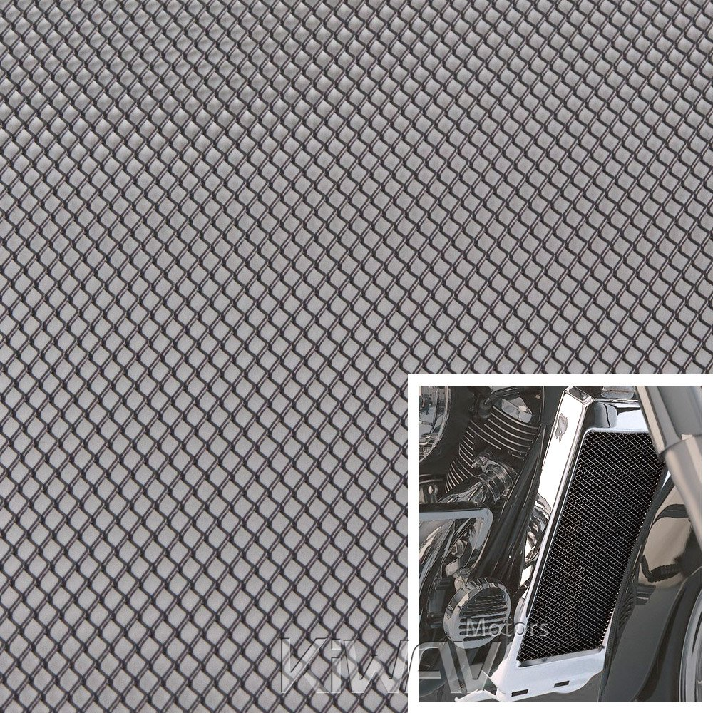 Amazon.com: Motorcycle Black Universal 20x33cm Aluminum Diamond Mesh ...