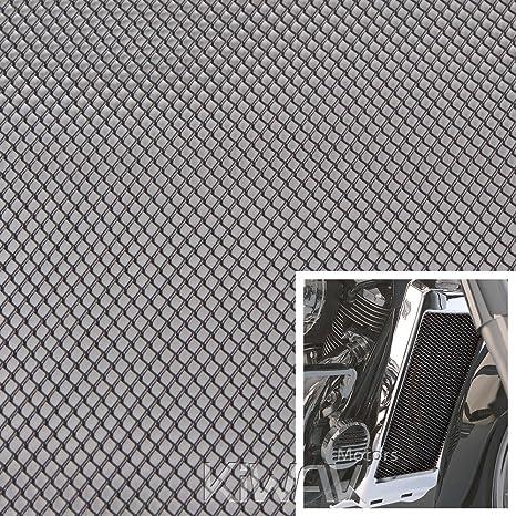 KiWAV Magazi Motorcycle Black Universal 20x33cm Aluminum Diamond Mesh Grill  Fairing insert