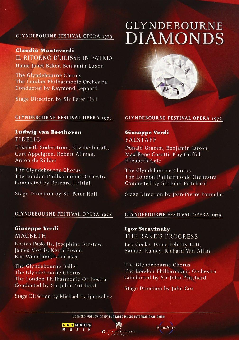 Glyndebourne Diamonds: Fidelio, Falstaff, Macbeth, The Rake's Progress, Il Ritorno d'Ulisse in Patria by DVD International