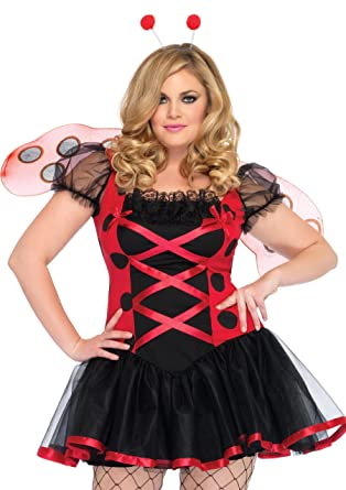 b62e1237a40 Amazon.com  Leg Avenue Women s Plus Size 3 Piece Lovely Ladybug ...